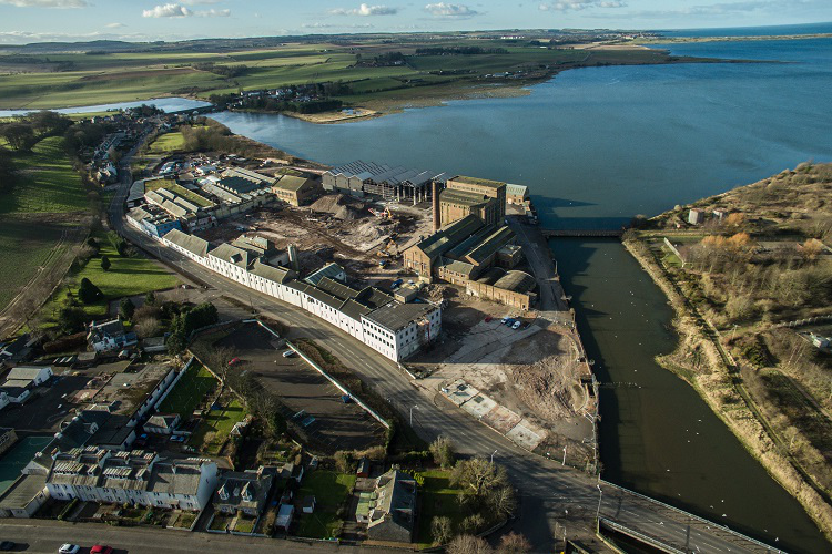 Aerial view of the Eden Campus site at Guardbridge